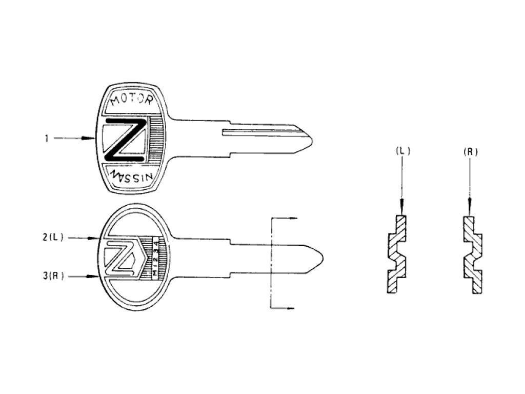 Datsun Pickup (620) Blank Key