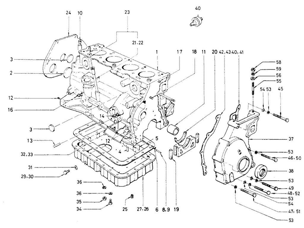 Datsun Sports 1600/2000 2000 (U20) Cylinder Block