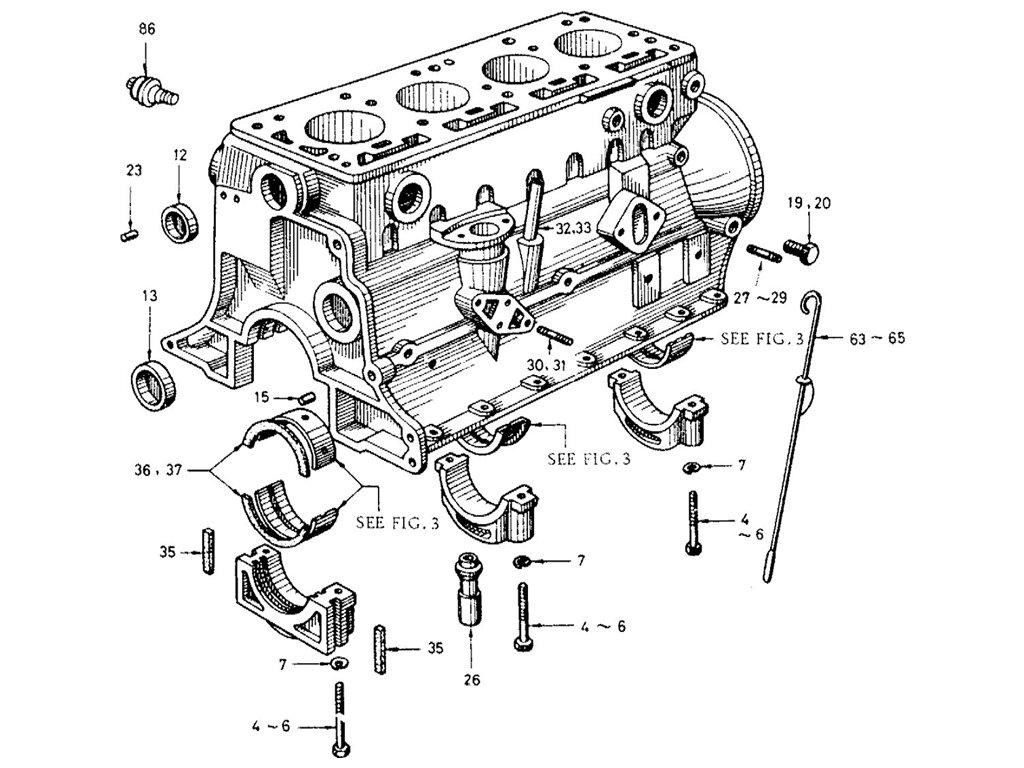Datsun Sports 1600/2000 1600 (R16) Cylinder Block