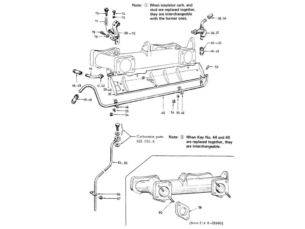 Datsun Sports 1600/2000 1600 (R16) Manifold