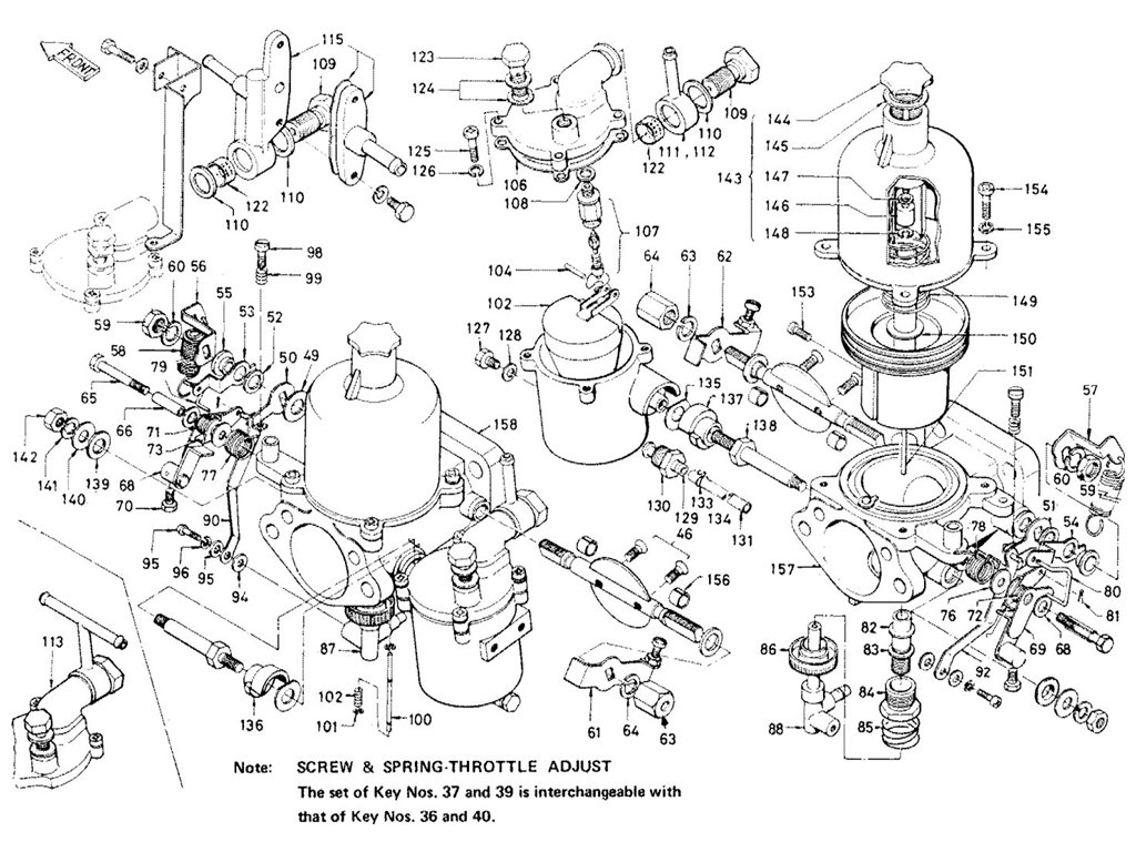 Datsun Sports 1600/2000 2000 (U20) Carburetor (SU)
