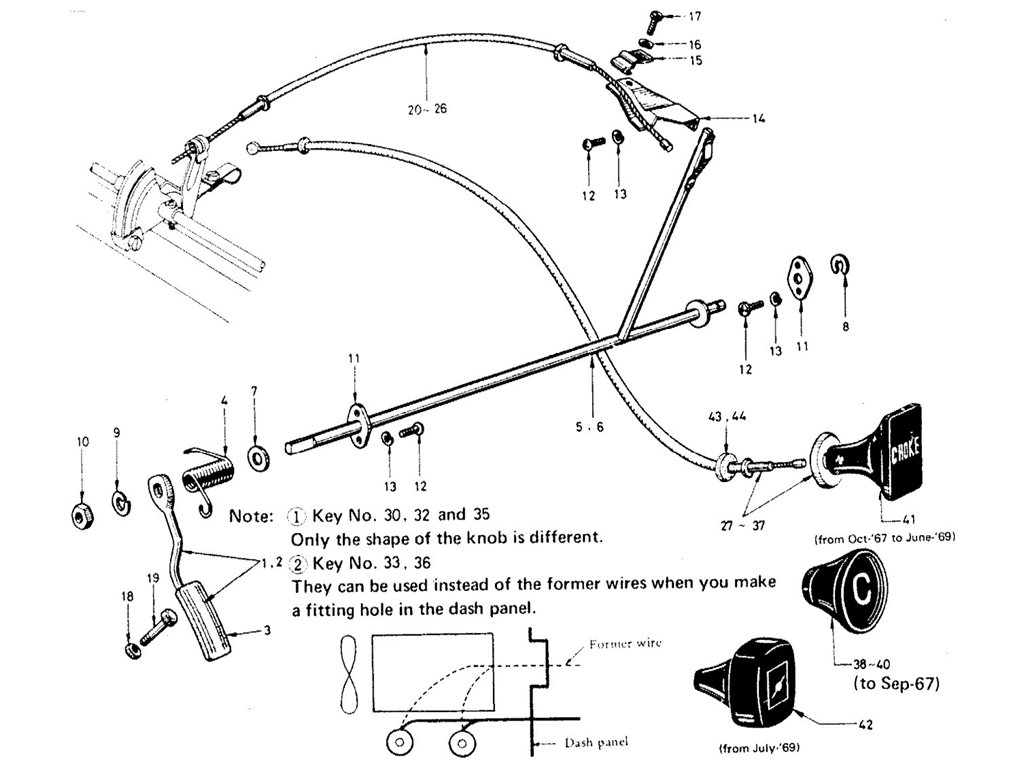 Datsun Sports 1600/2000 Engine Fitting Index