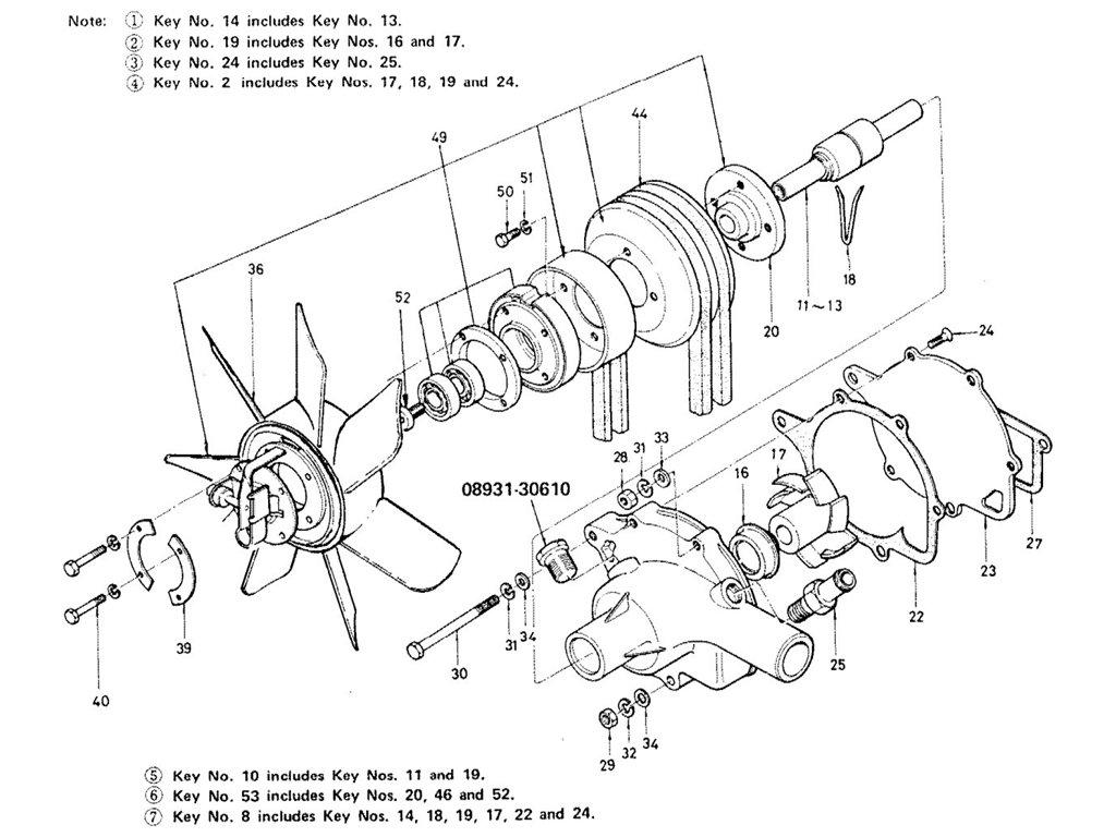 Datsun Sports 1600/2000 2000 (U20) Water Pump & Fan