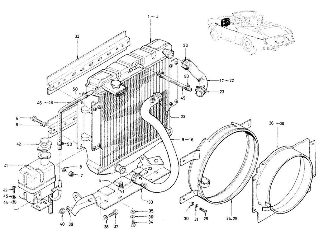 Datsun Sports 1600/2000 Radiator (1969-70)