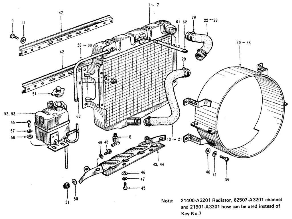 Datsun Sports 1600/2000 Radiator