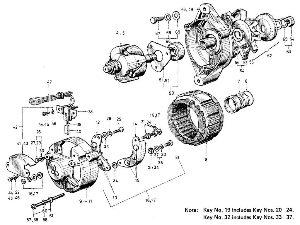 Datsun Sports 1600/2000 Alternator (Emission Control)