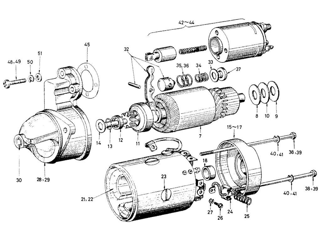 Datsun Sports 1600/2000 2000 Starter Motor (Mitsubishii)
