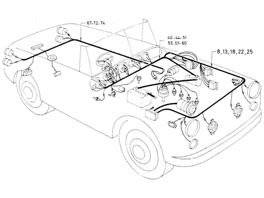Datsun Sports 1600/2000 Wiring