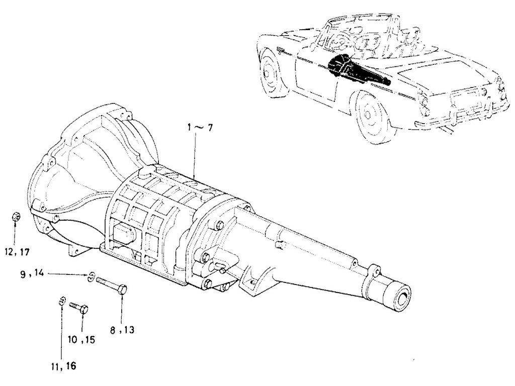 Datsun Sports 1600/2000 Transmission & Gasket Kit
