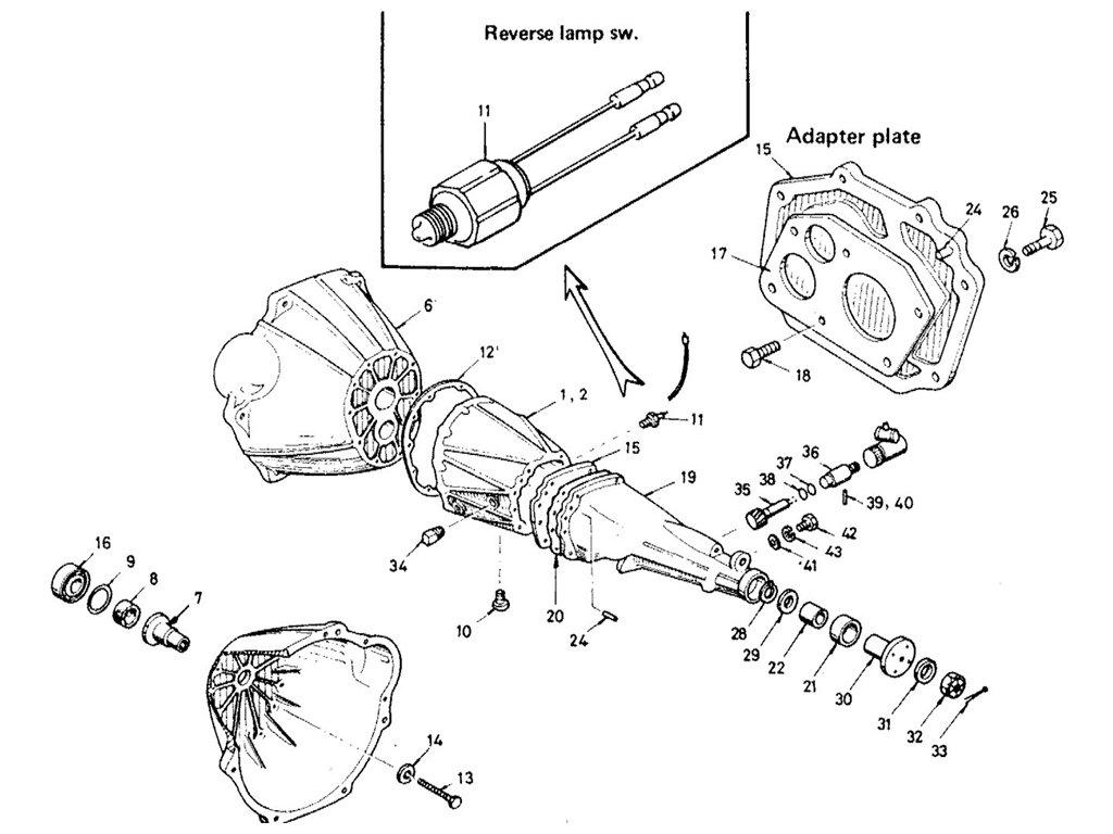 Datsun Sports 1600/2000 2000 Transmission Case (5-Speed)