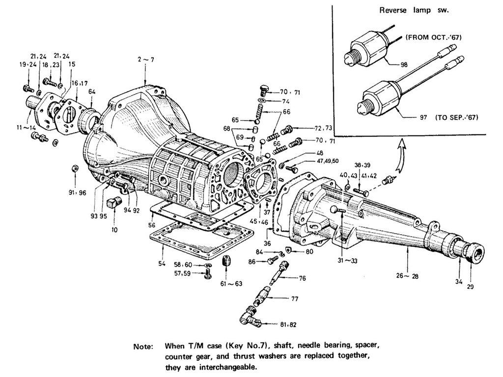 Datsun Sports 1600/2000 Transmission Case