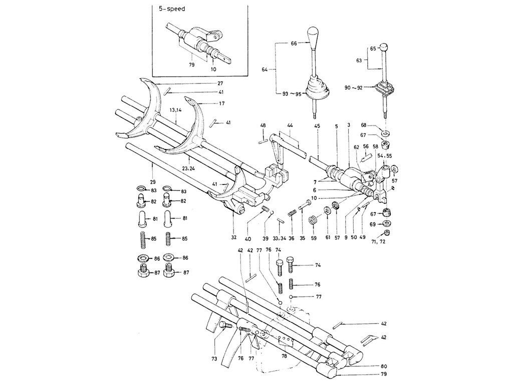 Datsun Sports 1600/2000 Transmission Control