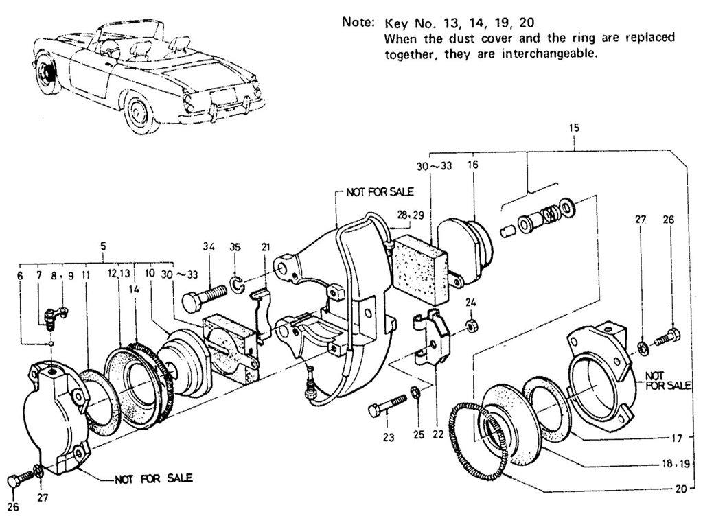 Datsun Sports 1600/2000 Front Brake