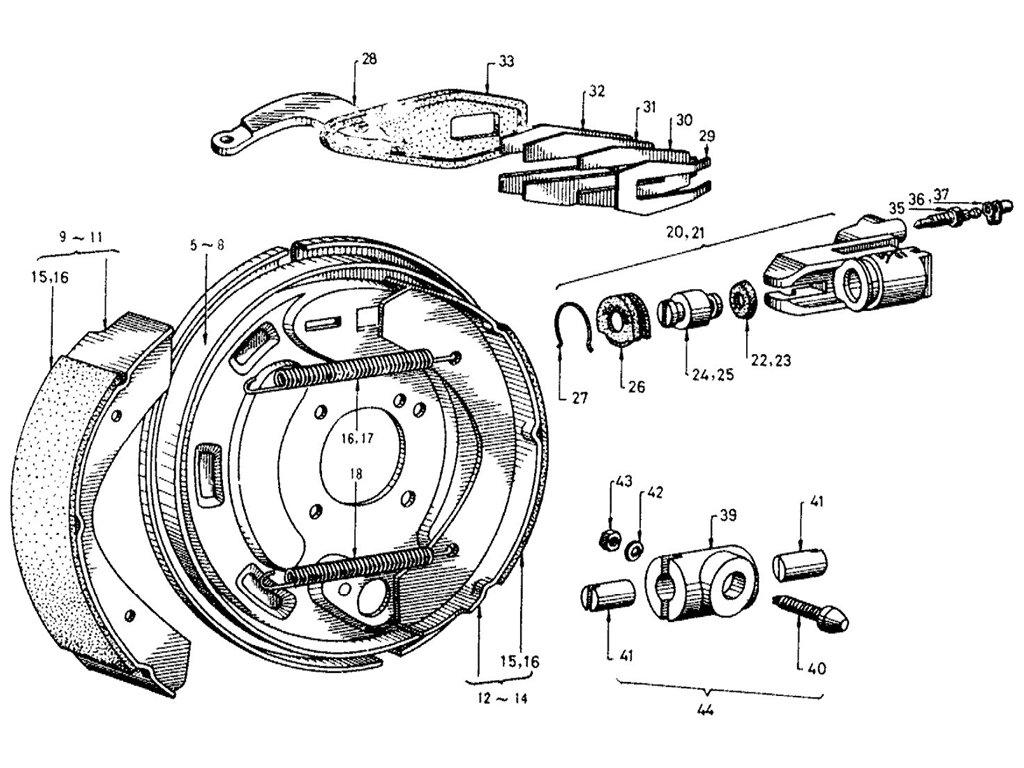 Datsun Sports 1600/2000 Rear Brake