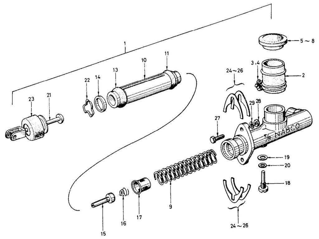 Datsun Sports 1600/2000 Clutch Master Cylinder
