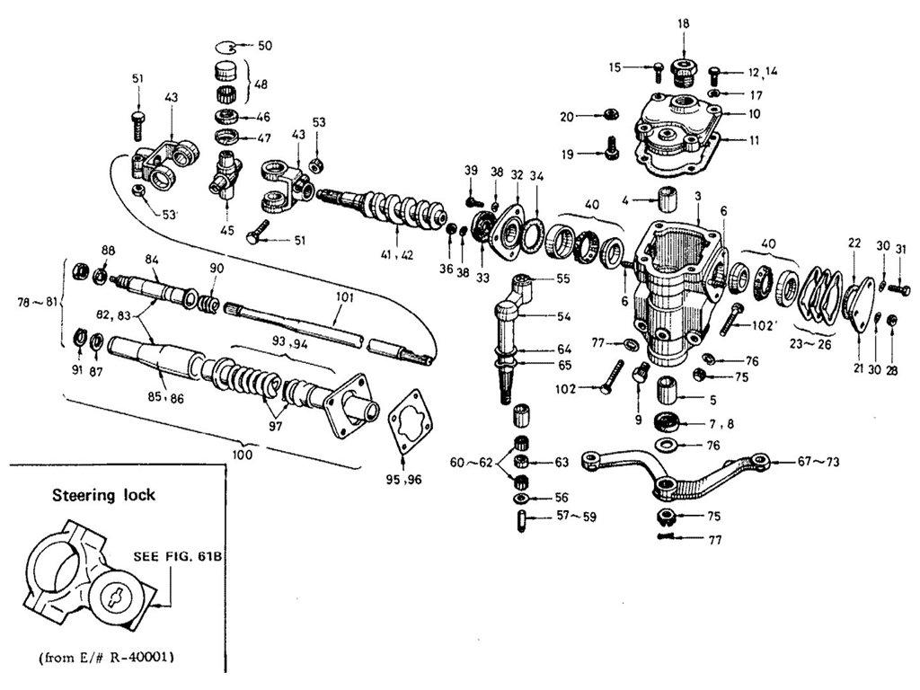 Datsun Sports 1600/2000 Steering Gear (1968-1969) (Worm Type)