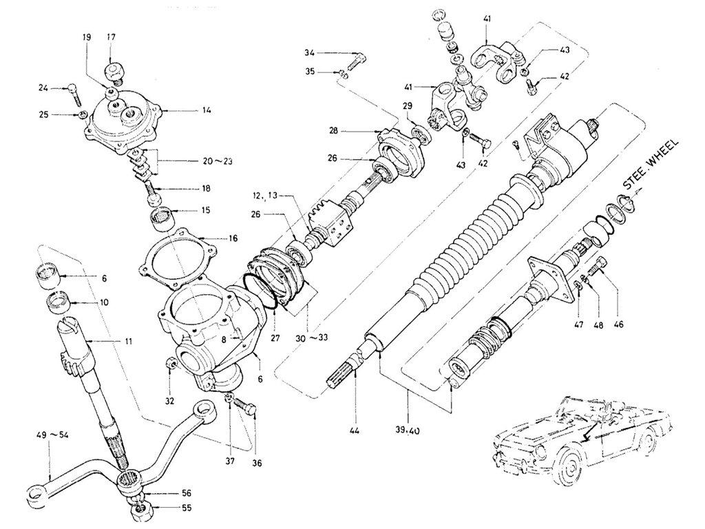 Datsun Sports 1600/2000 Steering Gear (1969-1970) (R.B Type)