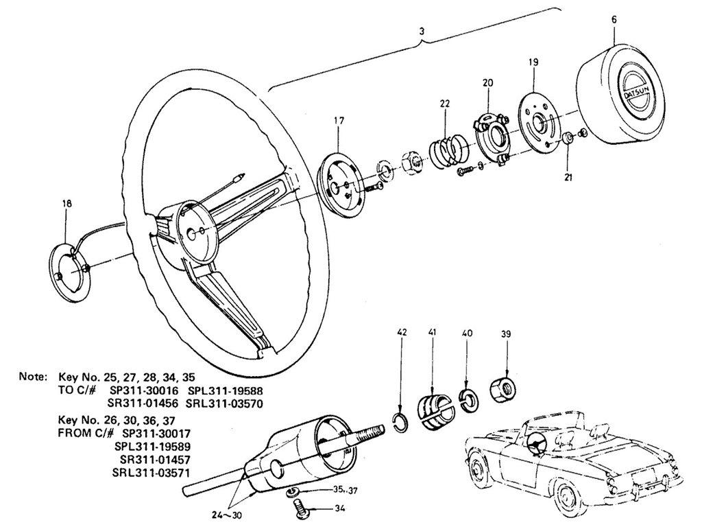 Datsun Sports 1600/2000 Steering Wheel