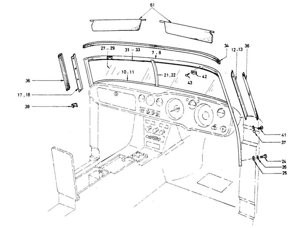 Datsun Sports 1600/2000 Windshield Glass