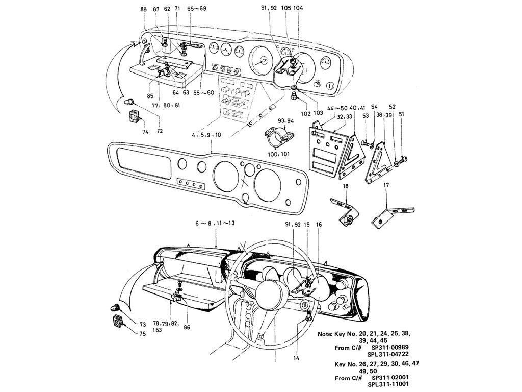 Datsun Sports 1600/2000 Instrument & Console Panel