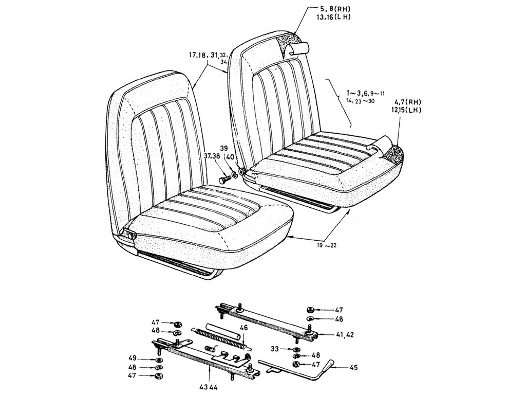 Datsun Sports 1600/2000 Seat