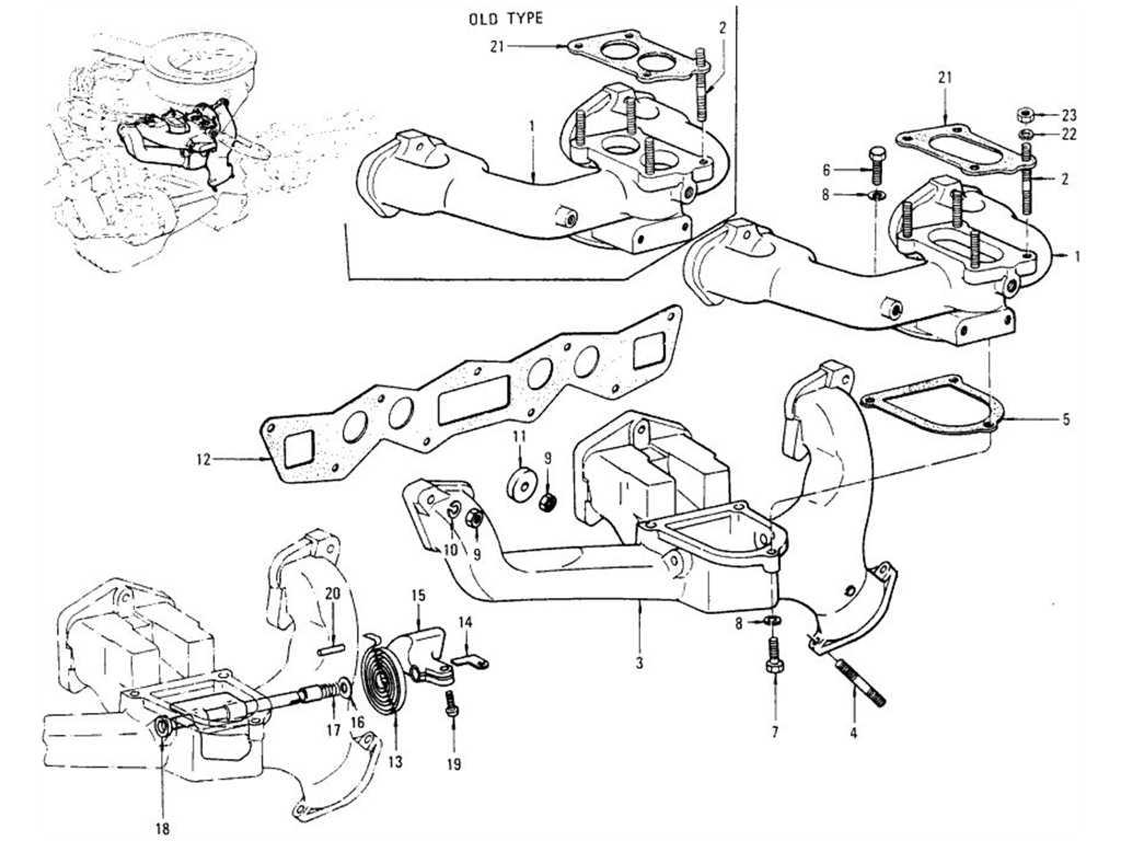 Datsun 1200 (B110) Manifold