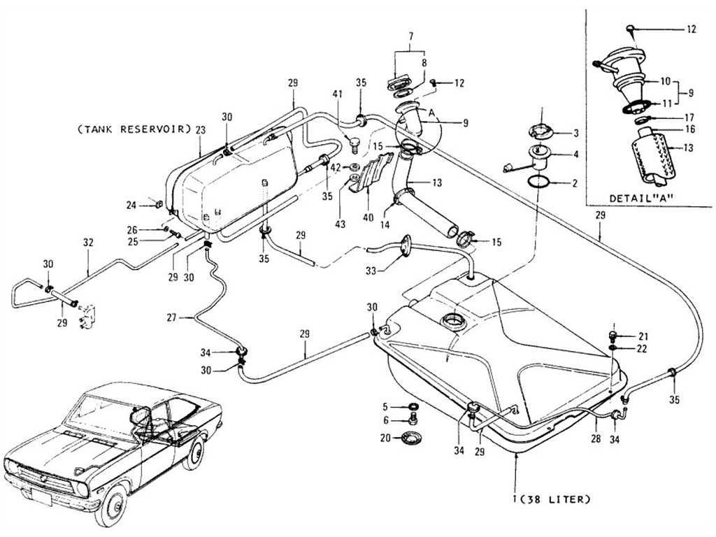 Datsun B110 Fuel Tank Coupe Evapo