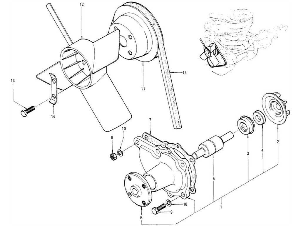 Datsun 1200 (B110) Water Pump & Fan