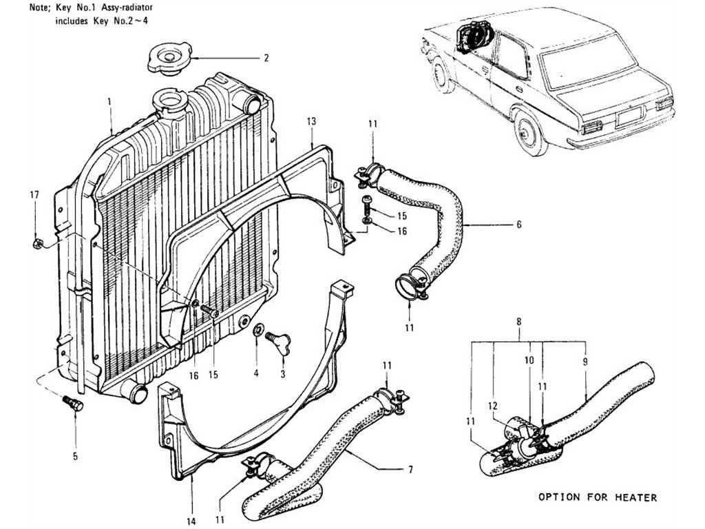 Datsun 1200 (B110) Radiator