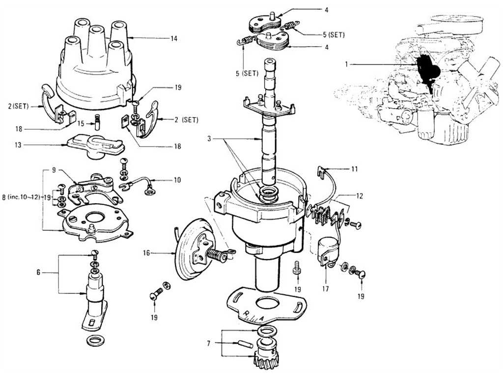 Datsun 1200 (B110) Distributor (Crank)