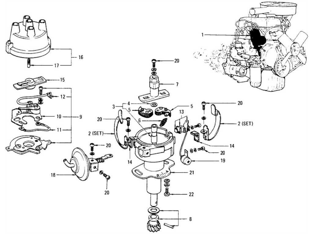 Datsun 1200 (B110) Distributor (Exhaust & Evapo)
