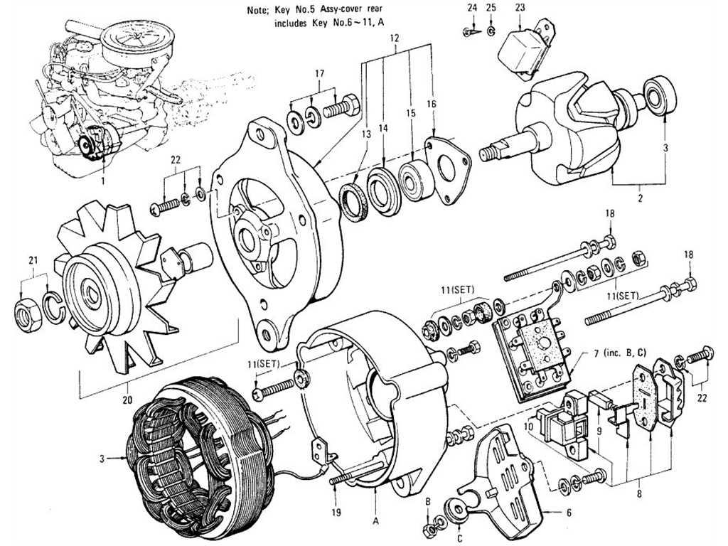 Datsun 1200 (B110) Alternator & Regulator
