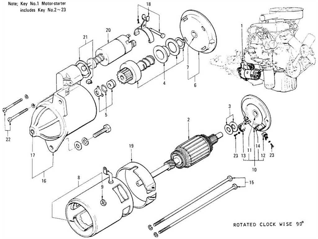 Datsun 1200 (B110) Starter Motor