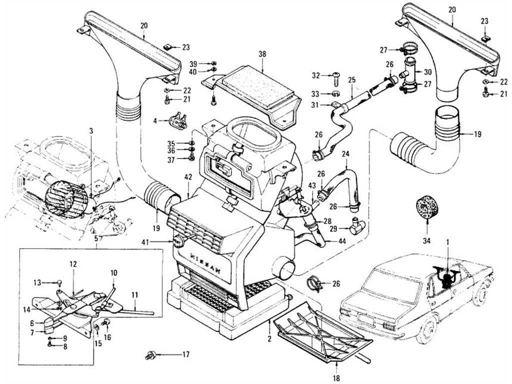 Datsun 1200 (B110) Room Heater