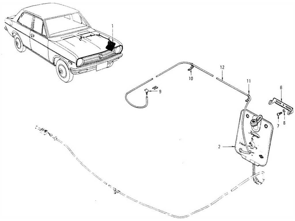 Datsun 1200 (B110) Windshield Washer