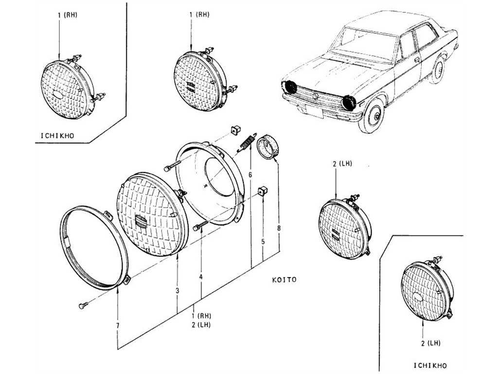 Datsun 1200 (B110) Head Lamp