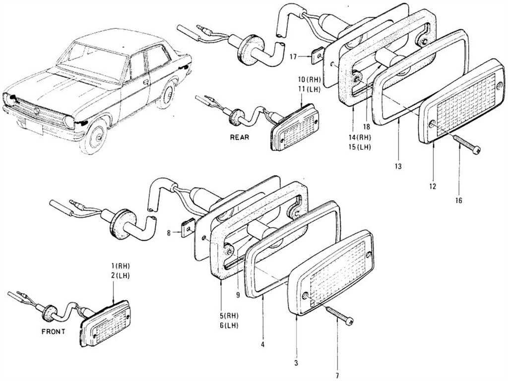Datsun 1200 (B110) Side Marker Lamp