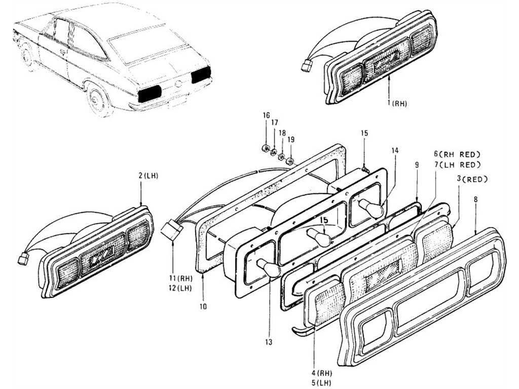 Datsun 1200 (B110) Rear Combination Lamp (Coupe)