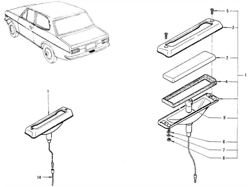 Datsun 1200 (B110) Licence Lamp (Sedan)