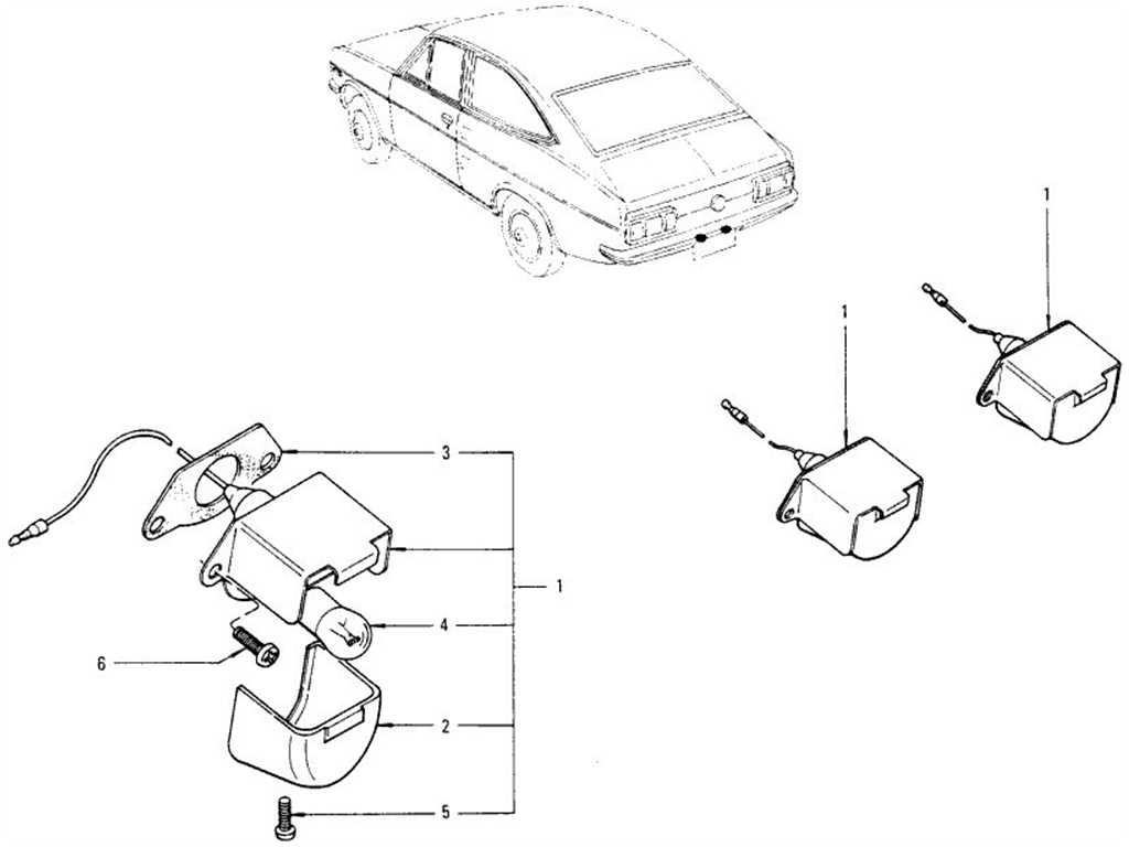 Datsun 1200 (B110) Licence Lamp (Coupe)
