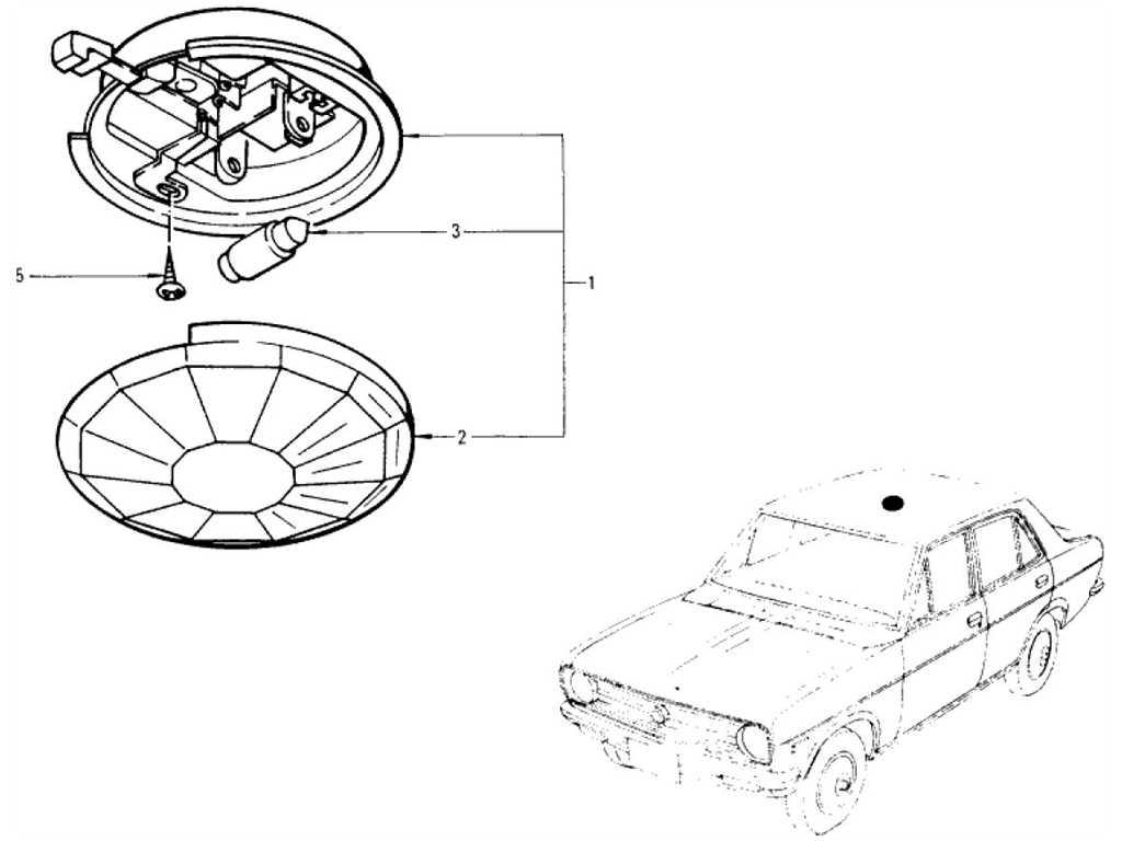 Datsun 1200 (B110) Room Lamp