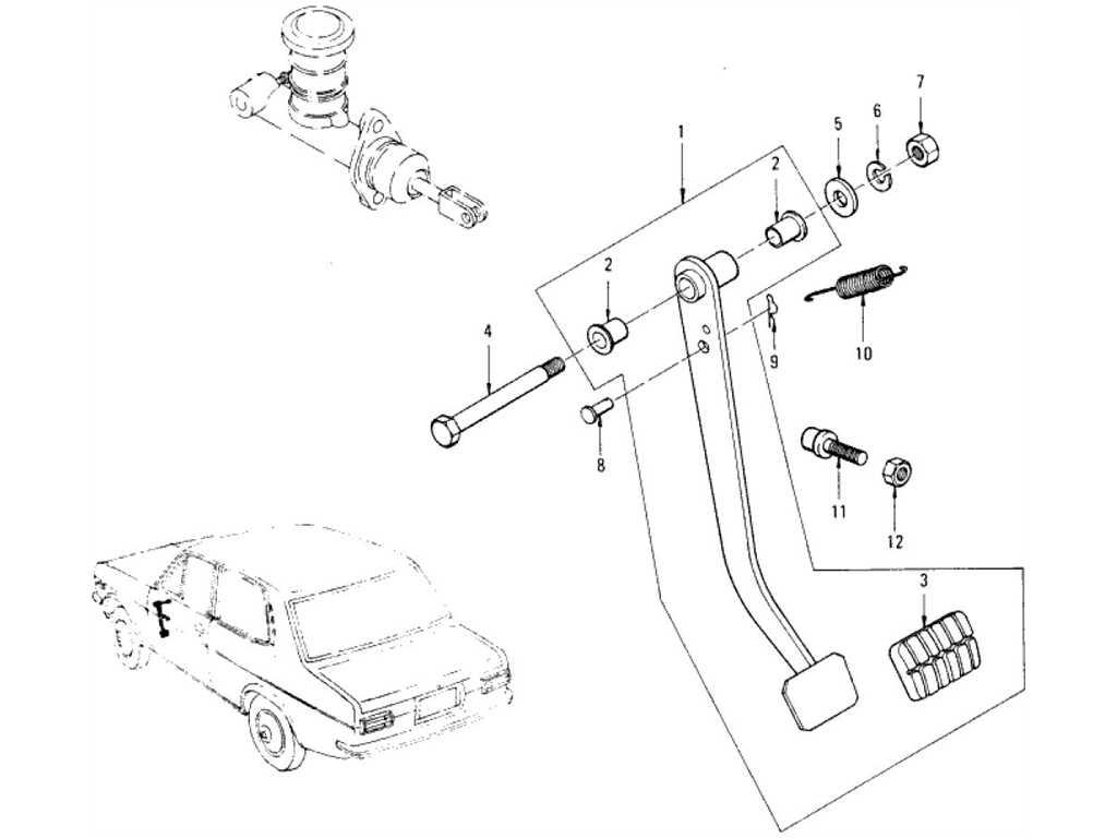 Datsun 1200 (B110) Clutch Pedal