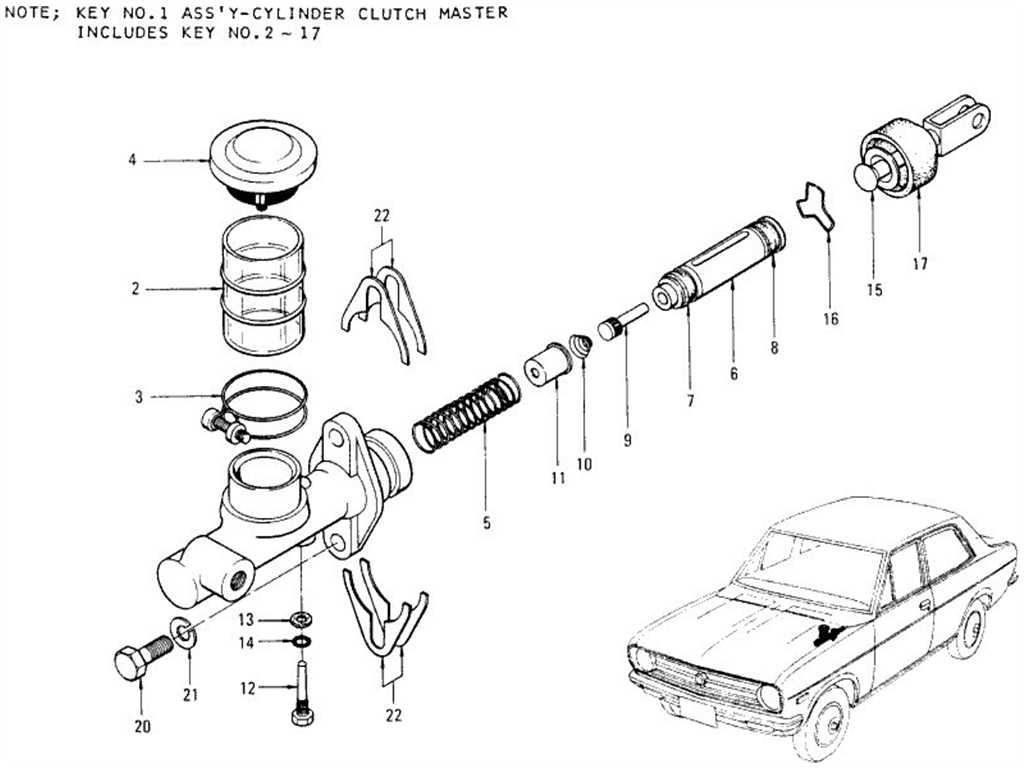 Datsun 1200 (B110) Clutch Master Cylinder