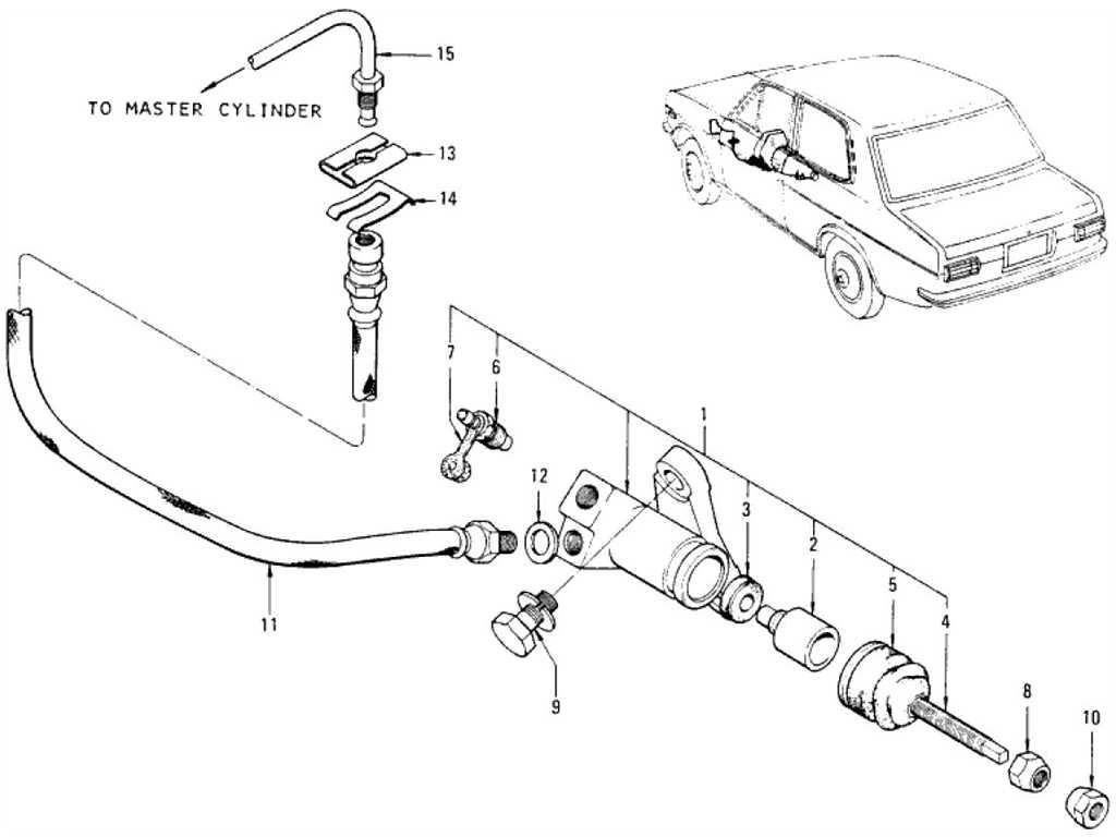Datsun 1200 (B110) Clutch Operating Cylinder