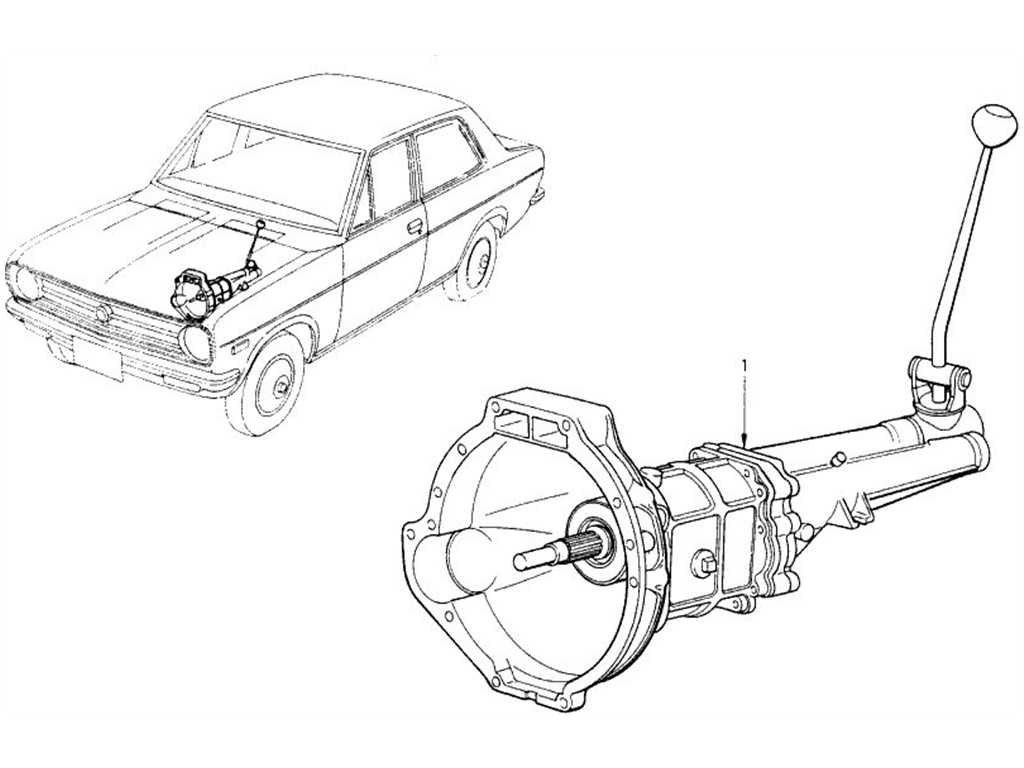 Datsun 1200 (B110) Transmission Assembly (4 Speed)
