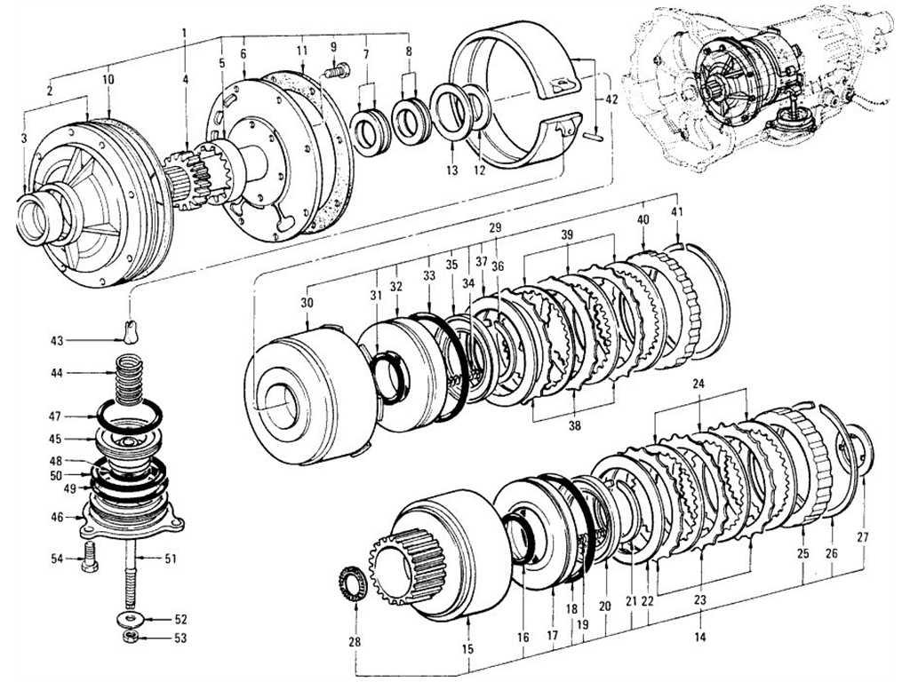Datsun 1200 (B110) Oil Pump, Clutch & Brake (Automatic 3N71B)