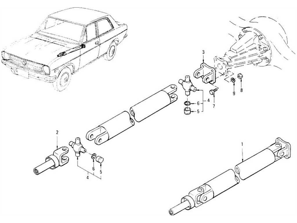 Datsun 1200 (B110) Propeller Shaft