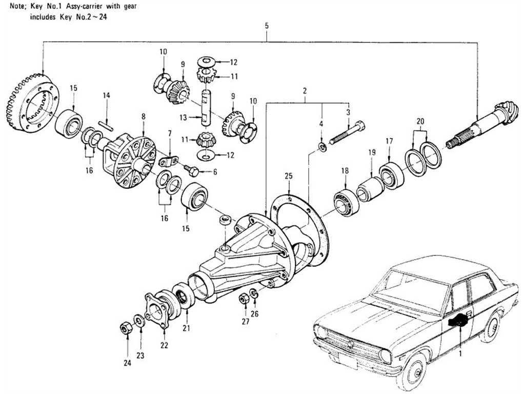 Datsun 1200 (B110) Gir Carrier & Gir