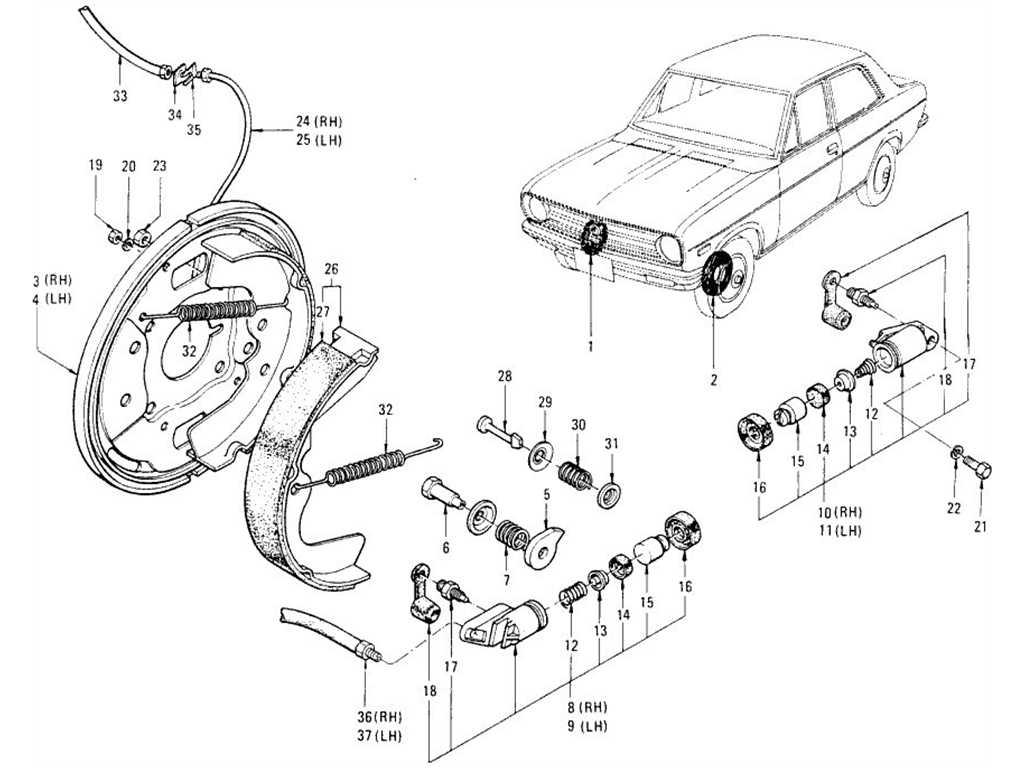 Datsun 1200 (B110) Front Brake (Drum Type)
