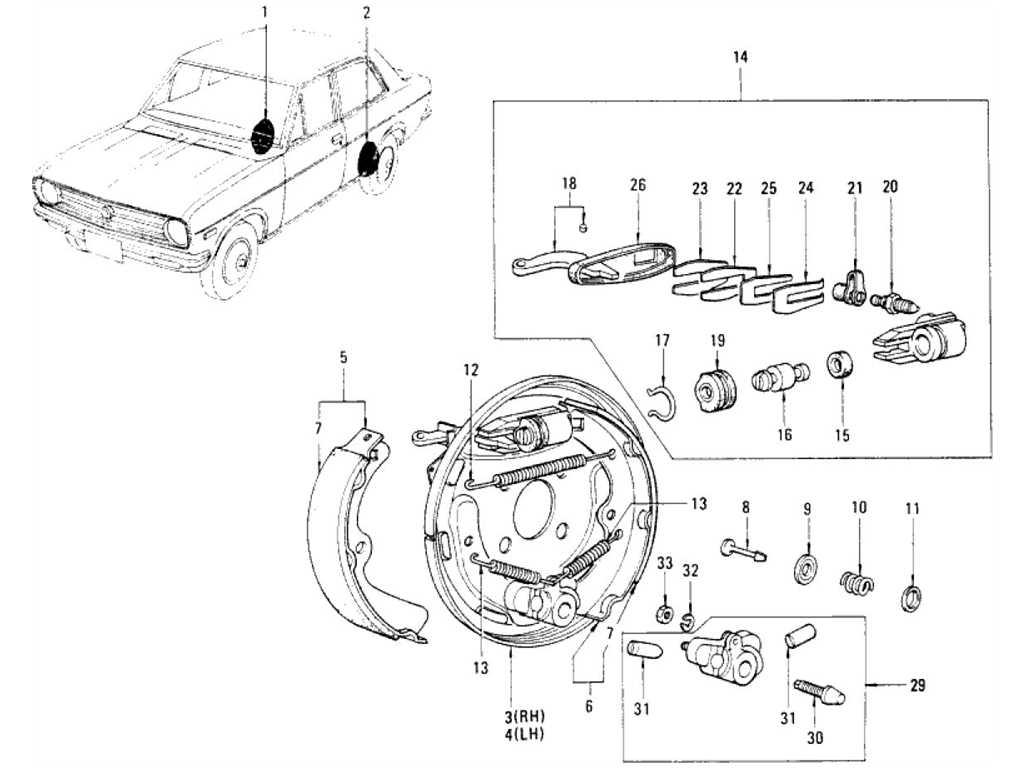 Datsun 1200 (B110) Rear Brake & Wheel Cylinder (For Front